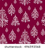 seamless pattern with christmas ... | Shutterstock .eps vector #496593568