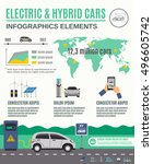 electric vehicle and hybrid... | Shutterstock .eps vector #496605742