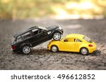 close up of toy cars crash | Shutterstock . vector #496612852