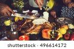 thanksgiving celebration...   Shutterstock . vector #496614172