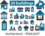 20 buildings signs. vector | Shutterstock .eps vector #49661647
