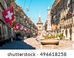street view on kramgasse with... | Shutterstock . vector #496618258