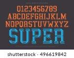 set of classical style alphabet ... | Shutterstock .eps vector #496619842