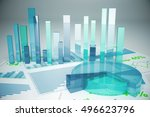 abstract blue financial charts...   Shutterstock . vector #496623796