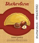 traditional azerbaijan sweet... | Shutterstock .eps vector #496630582
