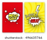 set of sale vector designs with ... | Shutterstock .eps vector #496635766