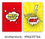 set of sale vector designs with ... | Shutterstock .eps vector #496635766