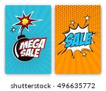set of sale vector designs with ... | Shutterstock .eps vector #496635772