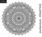 flower mandala. vintage... | Shutterstock .eps vector #496637242