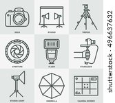 professional photography icon... | Shutterstock .eps vector #496637632