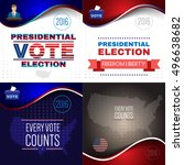 digital vector usa presidential ... | Shutterstock .eps vector #496638682