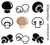 champignon mushroom icon... | Shutterstock .eps vector #496649818