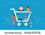 e commerce cart concept... | Shutterstock .eps vector #496650928