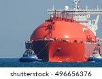 Lng Tanker At Sea. Large Tanke...