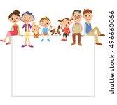 three generation family frame | Shutterstock .eps vector #496660066
