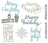 merry christmas  quote. great ...   Shutterstock .eps vector #496661236