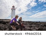 the couple on griffiths island... | Shutterstock . vector #496662016