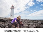 the couple on griffiths island... | Shutterstock . vector #496662076