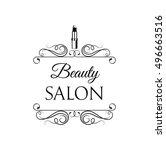sample logo for a beauty salon  ... | Shutterstock .eps vector #496663516