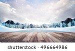 Wooden Terrace In Winter...