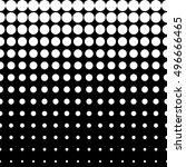 vector monochrome seamless... | Shutterstock .eps vector #496666465