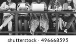 women using digital device...   Shutterstock . vector #496668595