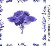 Frame With Violet Foliage And...