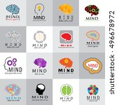 mind icons set   isolated on... | Shutterstock .eps vector #496678972