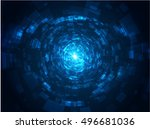 Abstract Technology Tunnel Wit...