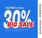 big sale banner. sale and... | Shutterstock .eps vector #496683418