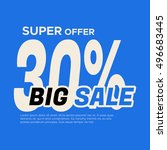 big sale banner. sale and... | Shutterstock .eps vector #496683445