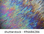 Rainbow Oil Slick Background.