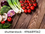 bio healthy food  herbs and... | Shutterstock . vector #496689562