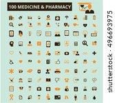 medicine pharmacy icons  | Shutterstock .eps vector #496693975