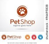 Stock vector pet shop logo template design vector 496695838