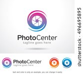 photo center logo template... | Shutterstock .eps vector #496695895