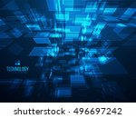 3d abstract background. digital ... | Shutterstock .eps vector #496697242