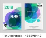 annual report booklet for... | Shutterstock .eps vector #496698442