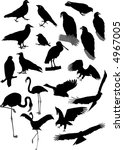 lot of vector silhouettes of... | Shutterstock .eps vector #4967005