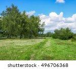eastern europe summer landscape | Shutterstock . vector #496706368