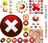 rejected vector button set.... | Shutterstock .eps vector #49671673
