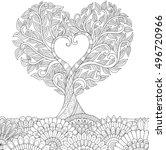 Flowers In Heart Shape On...