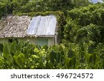 Old Dilapidated Hut Or Shed...