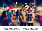vintage tone blur image of... | Shutterstock . vector #496728232