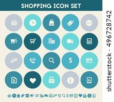 shopping icon set. multicolored ...