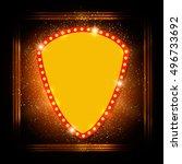abstract shining retro light... | Shutterstock .eps vector #496733692