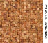 wooden abstract squares... | Shutterstock . vector #496735162