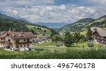 santa magdalena village at the... | Shutterstock . vector #496740178
