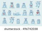 set vector stock illustrations... | Shutterstock .eps vector #496742038