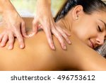 close up detail of hands... | Shutterstock . vector #496753612